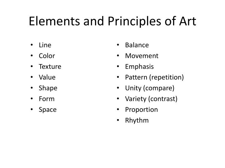PPT - Elements and Principles of Art PowerPoint Presentation