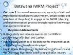 botswana iwrm project
