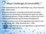 major challenges constraints1