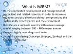 what is iwrm