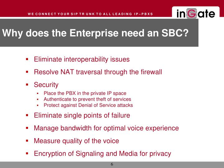Why does the Enterprise need an SBC?