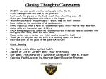 closing thoughts comments
