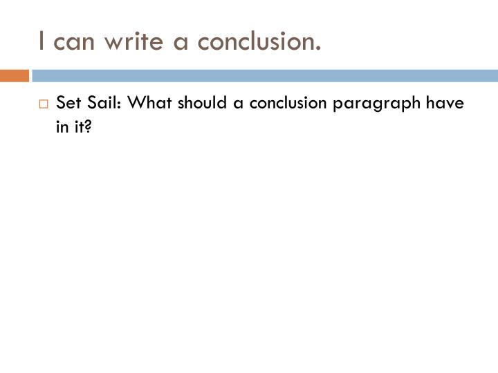 how to do a conclusion paragraph