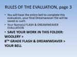 rules of the evaluation page 3