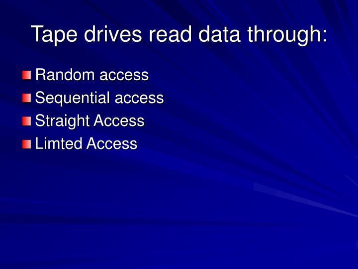 Tape drives read data through: