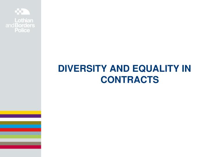 DIVERSITY AND EQUALITY IN CONTRACTS