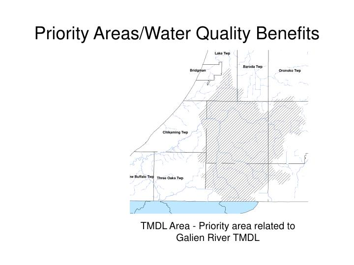 Priority areas water quality benefits1