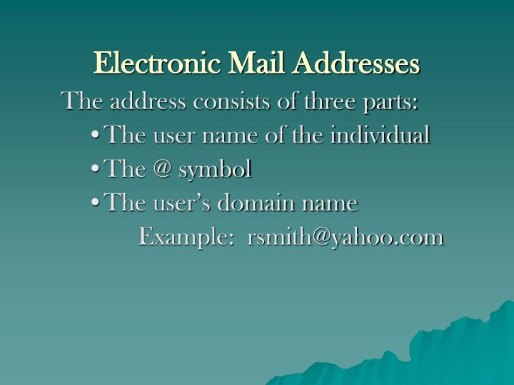 Electronic Mail Addresses