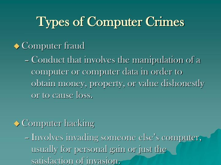 Types of Computer Crimes