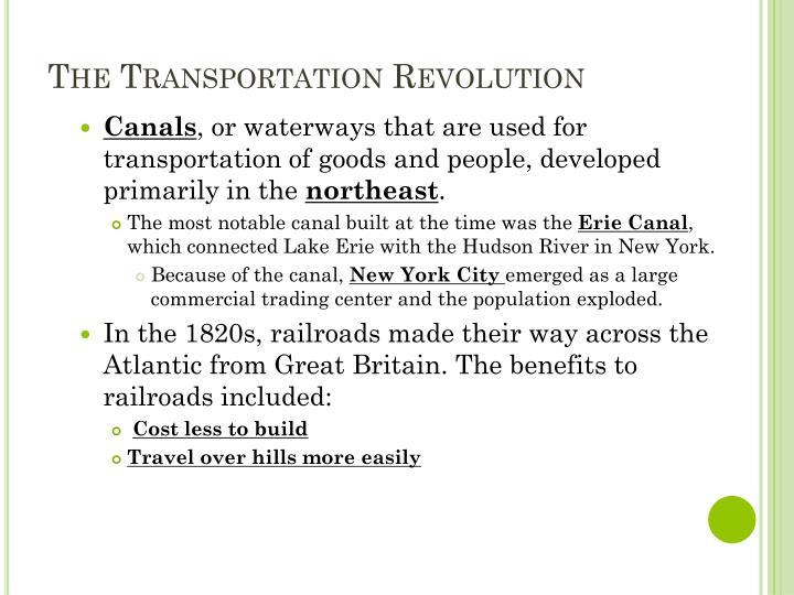The transportation revolution1