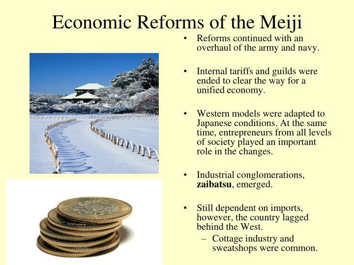 Economic Reforms of the Meiji