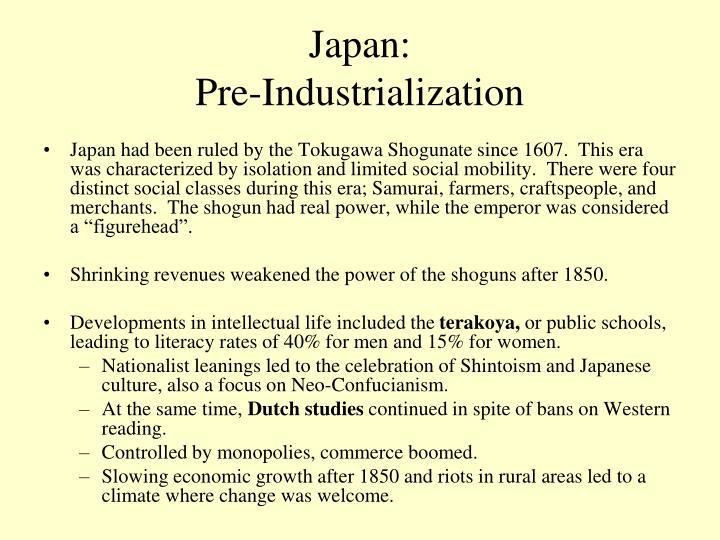 Japan pre industrialization