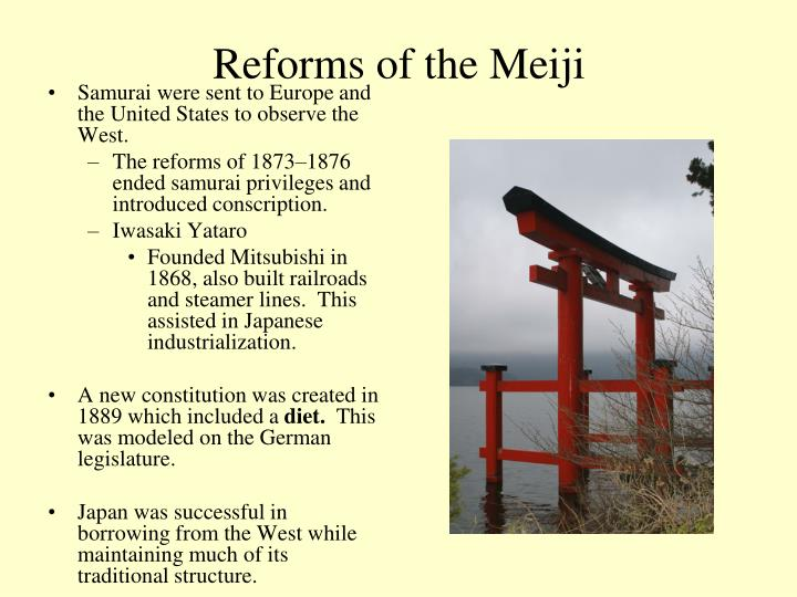 Reforms of the Meiji