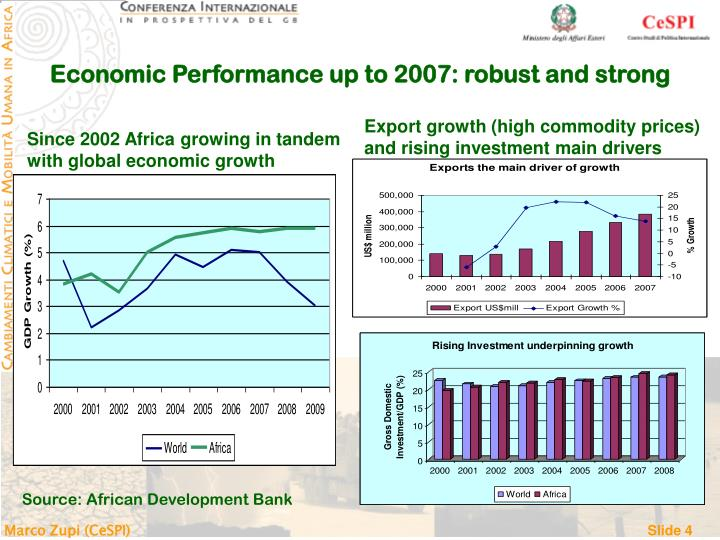 Economic Performance up to 2007: robust and strong