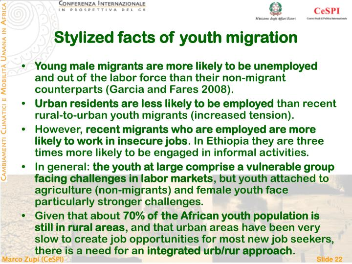 Stylized facts of youth migration