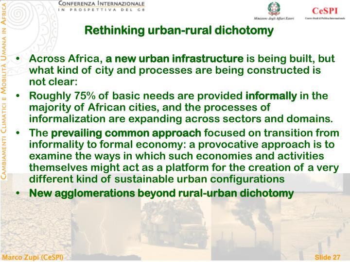 Rethinking urban-rural dichotomy