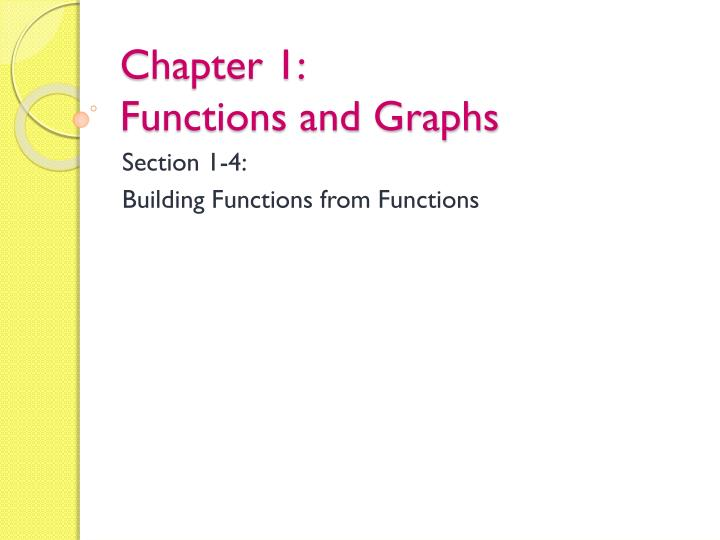 chapter 1 functions and graphs