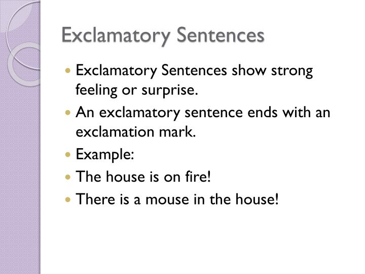 Ppt Imperative And Exclamatory Sentences Powerpoint Presentation