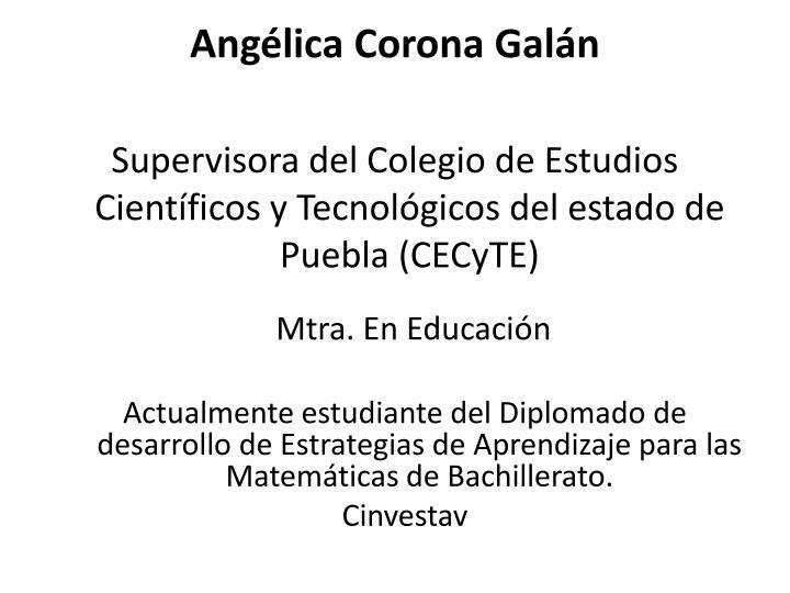 Angélica Corona Galán