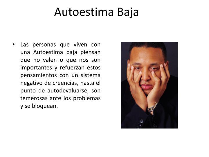 Autoestima Baja