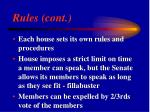 rules cont