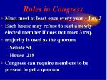 rules in congress