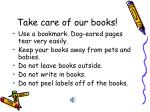 take care of our books
