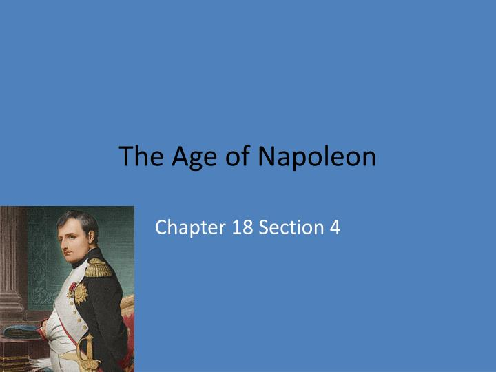 the age of napoleon n.