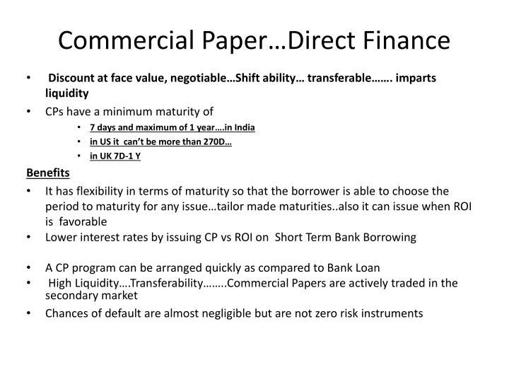 commercial paper why to invest Gfoa recommends that if a government chooses to use cp in its investment portfolio, it cautions government investors to: 1) verify whether commercial paper is allowed under state statute and their investment policy and 2) determine whether they have the expertise to understand, evaluate and monitor commercial paper before deciding to.