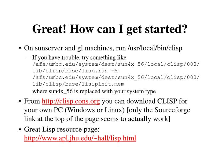 Great! How can I get started?