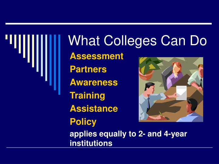 What Colleges Can Do