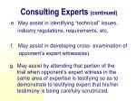 consulting experts continued1