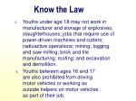 know the law1