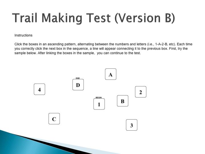 Trail Making Test (Version B)