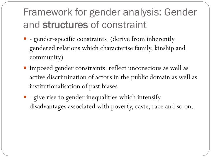 linden hills gender analysis Gender analysis is a type of socio-economic analysis that uncovers how gender relations affect a development problem the aim may just be to show that gender relations will probably affect the solution, or to show how they will affect the solution and what could be done.