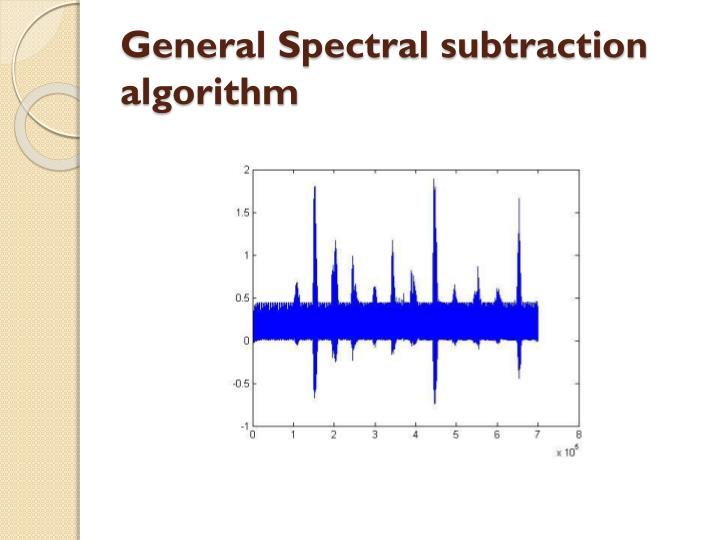 General Spectral subtraction algorithm
