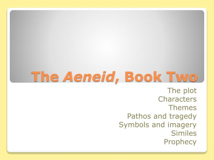 the aeneid book two n.