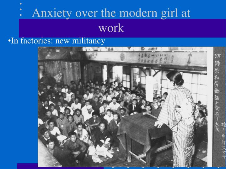 Anxiety over the modern girl at work