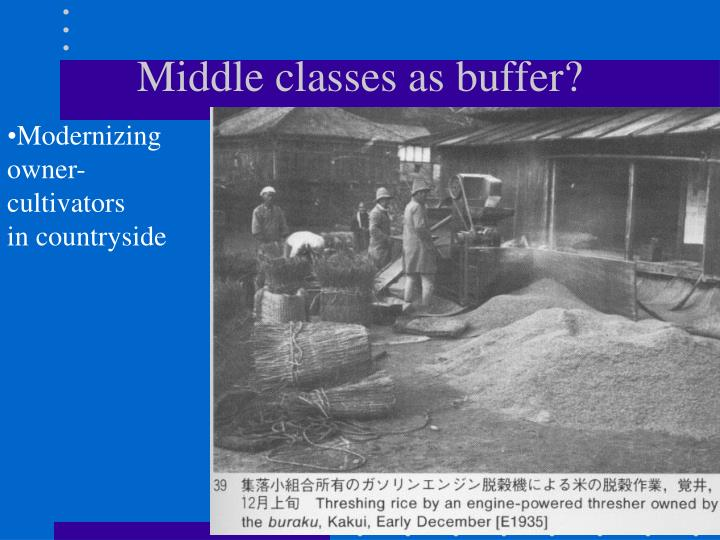 Middle classes as buffer?