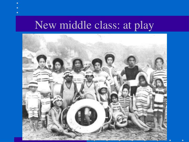 New middle class: at play