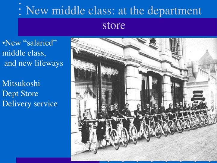 New middle class: at the department store