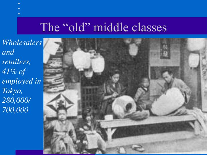 """The """"old"""" middle classes"""