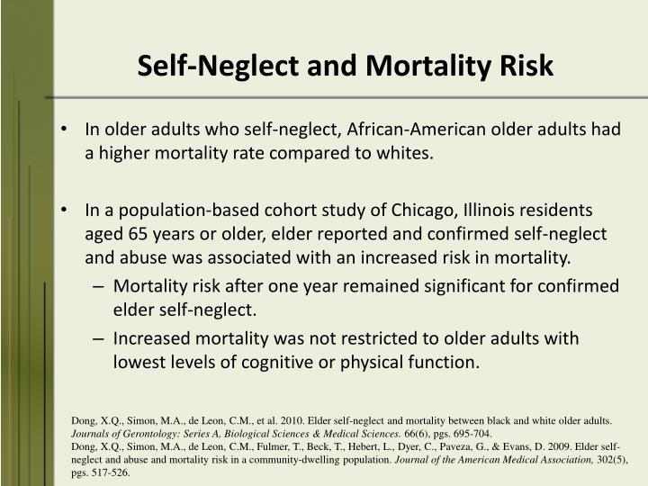 Self-Neglect and Mortality Risk