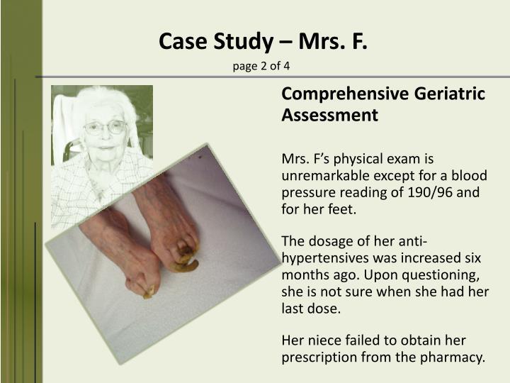 Case Study – Mrs.