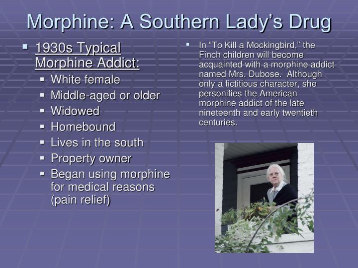 1930s Typical Morphine Addict: