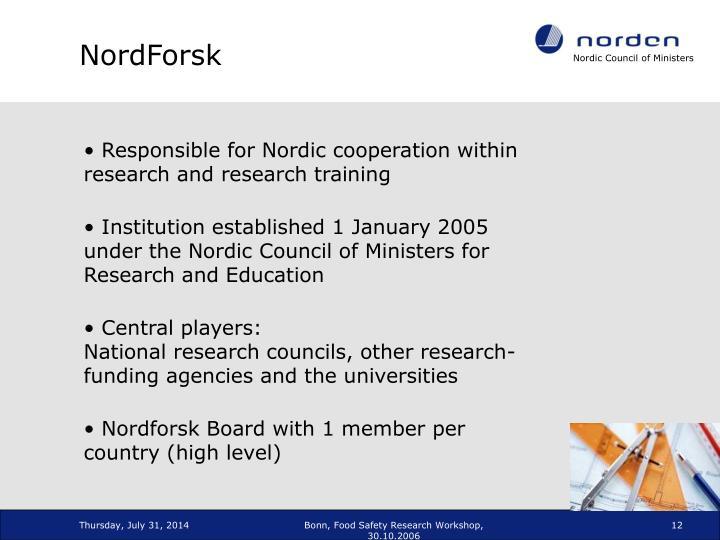 NordForsk
