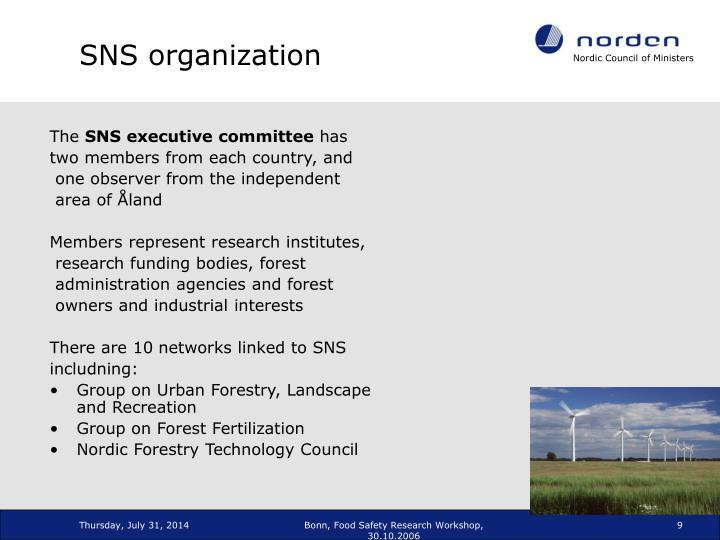 SNS organization