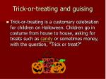 trick or treating and guising