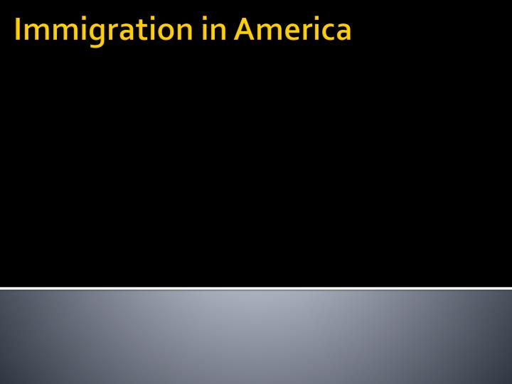 immigration in america n.