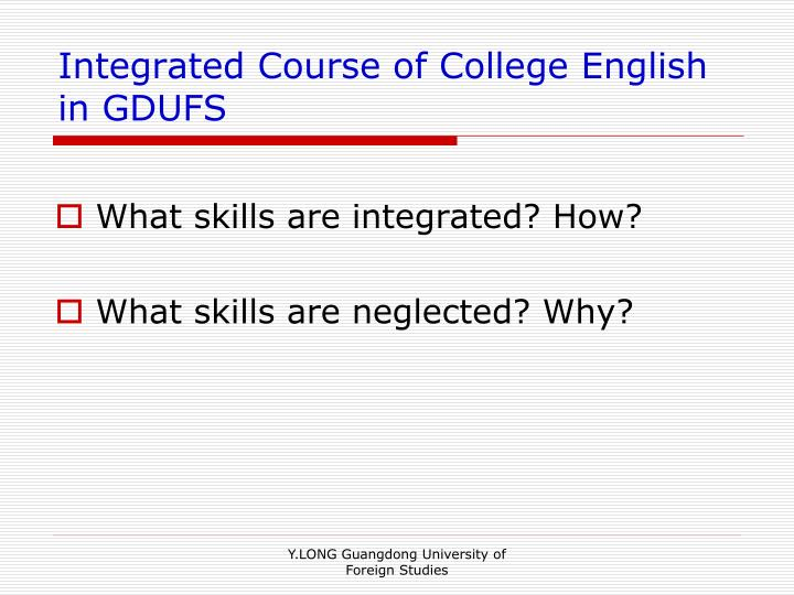 Integrated Course of College English